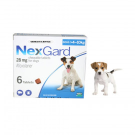 image of Afoxolaner Chewable Tablets For Dogs 4-10kg 28mg ~ Control Fleas