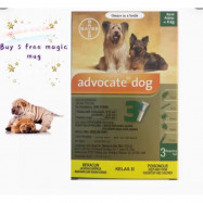 image of ADVOCATE SPOT ON FOR SMALL DOGS 4KG OR LESS (3 X .4ML PIPETTES) Buy 5 Free MUG
