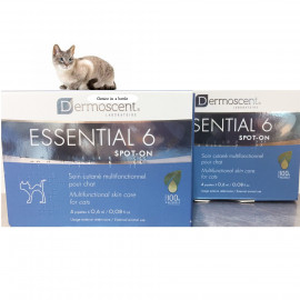 image of COMBO SET~Dermoscent® Essential 6® Spot-On For Cats 4 Pippetts (2 BOX)