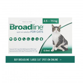 image of BEST !! Broadline For Cats/Treating Fleas > 2.5kg 3 Tubes
