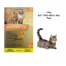 image of Advocate® - EFFECTIVE FLEA TREATMENT FOR CATS < 4 KG ( Buy 5 Free MUG)