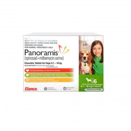 image of Panoramis Medium Green For Medium Dogs Between 9.1-18kg/Control Fleas
