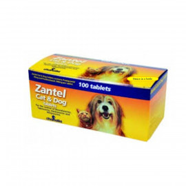 image of Zantel Cat & Dog Worming 100 Tablets/ Box