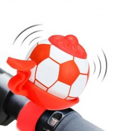 image of Free Shipping - FOOTBALL SHAPED OUTDOOR BIKE BELL RING (RED)