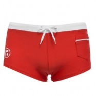 image of SEXY MEN COLOR BLOCK DRAWSTRING BEACH WEAR BOXERS (RED) XL