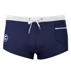 image of SEXY MEN COLOR BLOCK DRAWSTRING BEACH WEAR BOXERS (CADETBLUE) XL