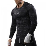 CAMOUFLAGE OPENWORK PANEL QUICK DRY GYM T-SHIRT (GRAY) XL