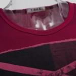 RETRO MALE GEOMETRIC PRINT CLOSE-FITTING THIN SHIRTS (RED L/XL/2XL/3XL) L