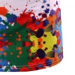3D COLORFUL SPLATTER PAINT SHORT SLEEVE T-SHIRT (COLORMIX) L