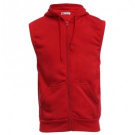 image of CASUAL SOLID COLOR OVERSIZE POCKET MALE HOODED WAISTCOAT M