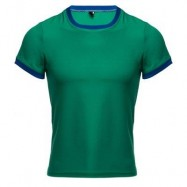 image of SIMPLE ROUND COLLAR SHORT SLEEVE COLOR BLOCK T-SHIRT FOR MEN (JADE GREEN) XL