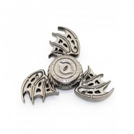 image of FOCUS TOY DRAGON WINGS FINGER GYRO SPINNER BIRTHDAY GIFT (SILVER) -