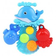 image of CHILDREN DOLPHIN SQUIRT WATER BATH BUTTRESSED SPRAY SHOWER TOY SET (COLORMIX) -