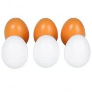 image of 6PCS WOODEN SIMULATION EGGS YOLK KITCHEN FOOD PRETEND PLAY FOR KIDS EDUCATIONAL TOY (COLORMIX) -