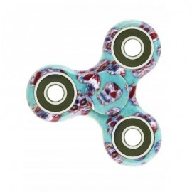 image of CAMOUFLAGE PRINT STRESS RELIEF FOCUS TOY FIDGET SPINNER (GREEN BLUE) -