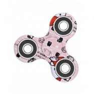 image of CAMOUFLAGE PRINT STRESS RELIEF FOCUS TOY FIDGET SPINNER (PINK) -