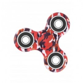image of CAMOUFLAGE PRINT STRESS RELIEF FOCUS TOY FIDGET SPINNER (RED) -