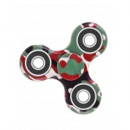 image of CAMOUFLAGE PRINT STRESS RELIEF FOCUS TOY FIDGET SPINNER (GREEN) -
