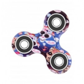 image of CAMOUFLAGE PRINT STRESS RELIEF FOCUS TOY FIDGET SPINNER (BLUE) -