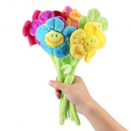 image of 8PCS COLORFUL BENDABLE STUFFED PLUSH FLOWER TOY NOVELTY BIRTHDAY CHRISTMAS GIFT (COLORMIX) One SIze