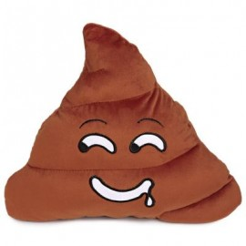 image of CUTE POOP EXPRESSION DROOL EMOTICON PILLOW STUFFED PLUSH TOY HOME DECORATION CHRISTMAS GIFT (CHOCOLATE) One SIze