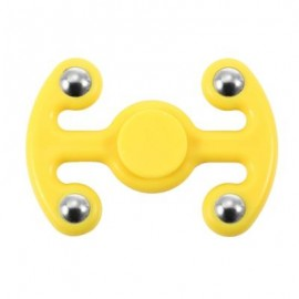 image of NOVELTY FIDGET HAND SPINNER FINGER TOY FOR ADULTS AND KIDS (YELLOW) 9.50 x 6.50 x 2.20 cm