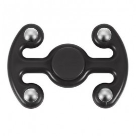 image of NOVELTY FIDGET HAND SPINNER FINGER TOY FOR ADULTS AND KIDS (BLACK) 9.50 x 6.50 x 2.20 cm