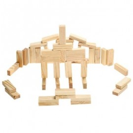 image of PILE STACKED HIGH BRICK TOY FOR KID EDUCATION - 48PCS / SET (WOOD) 5.00 x 5.00 x 15.00 cm