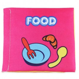 image of BABY ENGLISH EARLY DEVELOPMENT SOFT CLOTH BOOK TOY (COLORFUL, FOOD) Food
