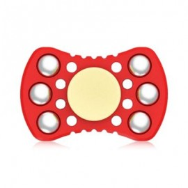 image of ABS ADHD FIDGET SPINNER WITH R188 BEARING STRESS RELIEF TOY RELAXATION GIFT FOR ADULTS (RED) -