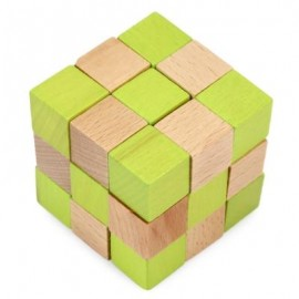 image of SQUARE PUZZLE EDUCATIONAL WOODEN INTERLOCK TOY CHRISTMAS PRESENT (COLORMIX) -