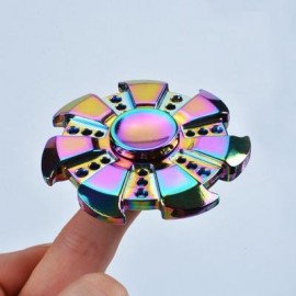 image of COLORFUL STRESS RELIEF TOY WHEEL FINGER FIDGET SPINNER (COLORMIX) -