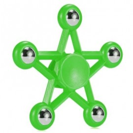 image of FIVE-POINTED STAR PLASTIC HAND SPINNER FUNNY STRESS RELIEVER RELAXATION GIFT (GREEN) -