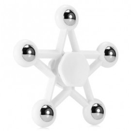 image of FIVE-POINTED STAR PLASTIC HAND SPINNER FUNNY STRESS RELIEVER RELAXATION GIFT (WHITE) -