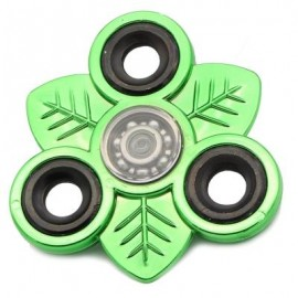 image of LEAVES EDC TOY FINGER GYRO STRESS RELIEF FIDGET SPINNER (BRILLIANT GREEN) -