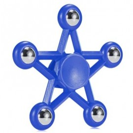 image of FIVE-POINTED STAR PLASTIC HAND SPINNER FUNNY STRESS RELIEVER RELAXATION GIFT (BLUE) -