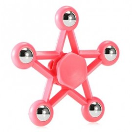 image of FIVE-POINTED STAR PLASTIC HAND SPINNER FUNNY STRESS RELIEVER RELAXATION GIFT (PINK) -