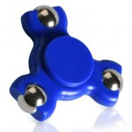 image of STRESS RELIEF TOY TRIANGLE BALL BEARING FIDGET SPINNER (BLUE) -