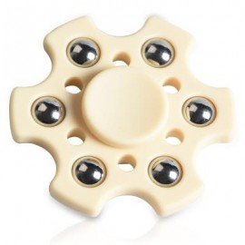 image of FOCUS TOY SNOWFLAKE SHAPE BALL BEARING FIDGET FINGER SPINNER (MILK WHITE) -