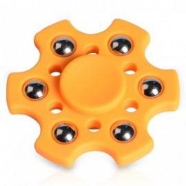 image of FOCUS TOY SNOWFLAKE SHAPE BALL BEARING FIDGET FINGER SPINNER (ORANGE) -