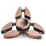 image of TRI SPINNING EDC FIDGET SPINNER RELAXATION TOY (RED BRONZED) 7*7*1.5CM