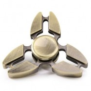 image of TRI SPINNING EDC FIDGET SPINNER RELAXATION TOY (GOLDEN) 7*7*1.5CM