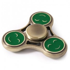 image of TRIANGLE SMILING FACE METAL FIDGET SPINNER GYRO (GREEN) 7*7*1.5CM