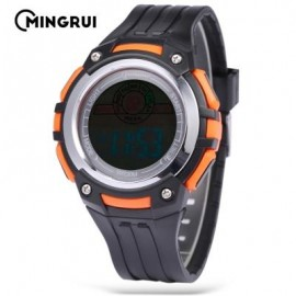 image of MINGRUI MR - 8547079 KIDS DIGITAL MOVT WATCH LED LIGHT DATE DAY CHRONOGRAPH 3ATM WRISTWATCH (SWEET ORANGE) 0