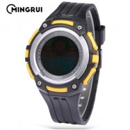 image of MINGRUI MR - 8547079 KIDS DIGITAL MOVT WATCH LED LIGHT DATE DAY CHRONOGRAPH 3ATM WRISTWATCH (YELLOW) 0