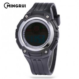 image of MINGRUI MR - 8547079 KIDS DIGITAL MOVT WATCH LED LIGHT DATE DAY CHRONOGRAPH 3ATM WRISTWATCH (BLACK) 0