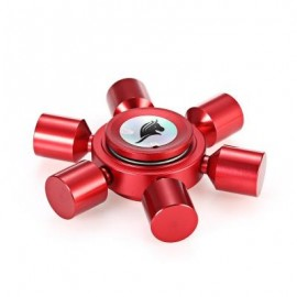 image of KELIMA ALUMINUM ALLOY ADHD FIDGET SPINNER RUDDER SHAPE STRESS RELIEVER TOY RELAXATION GIFT (RED) -
