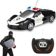 image of 2 CHANNEL WIRELESS REMOTE CONTROL RC POLICE CAR TRUCK KID TOY BIRTHDAY GIFT (BLACK) 0