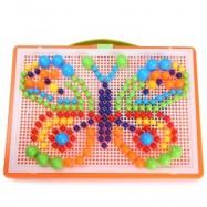 image of MOSAIC KIT MUSHROOM NAIL COMPOSITE PICTURE CREATIVE PUZZLE KIDS EDUCATIONAL TOY 296PCS (COLORMIX) -