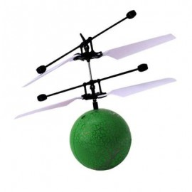 image of INFRARED INDUCTION FLYING BALL TOY HELICOPTER FOR KIDS (GREEN) 0